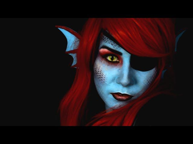 DIY: Undyne Costume & Makeup | Undertale W/ IHasCupquake - Video --> http://www.comics2film.com/diy-undyne-costume-makeup-undertale-w-ihascupquake/  #Cosplay