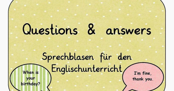Da man den Englischunterricht ja meistens mit ritualisierten Fragen und Antworten beginnt, die die Kinder sich gegenseitig stellen sollen, h...