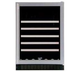 """Marvel 61WCMWWGL by Marvel. $1429.00. 24"""" Wine Cellar with 45-Bottle Capacity Including Magnums, 5 Extendable Racks, Fixed Wine Cradle, Inclined Display Rack, Electronic MicroSentry Controls and Left Hinge Door Opening: White Frame Glass Door"""