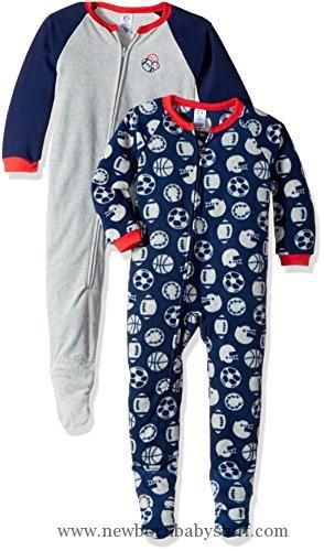 Baby Boy Clothes Gerber Baby Boy 2 Pack Blanket Sleeper, football, 6-9 Months