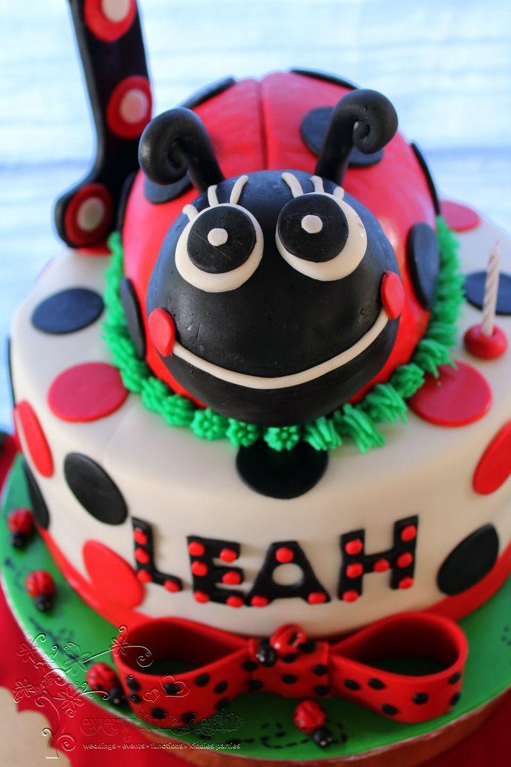 Ladybug 3D Birthday Cake #Ladybug #1stBirthday #DessertTable
