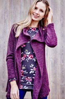 Woodlands Ridge Knit Jacket - Burgundy
