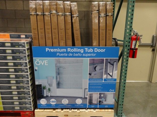 Ove Decors 60 Inch Premium Rolling Tub Door Costco 2