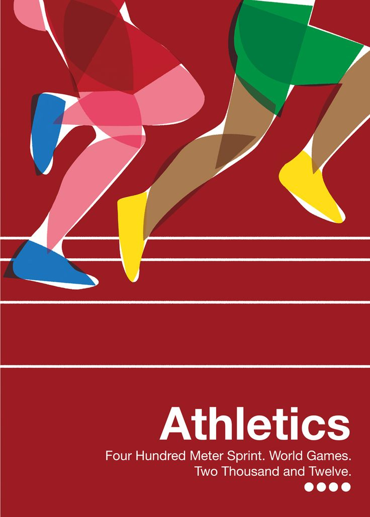 World Games #4 - 2012 running athletics illustration, sprint