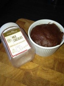 Chocolate Mug Cake .. Another recipe which is easy to make in the microwave. Thanks to Mumma Poss for the recipe.