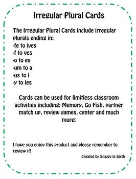 1000 ideas about irregular plural nouns on pinterest for Plural of fish