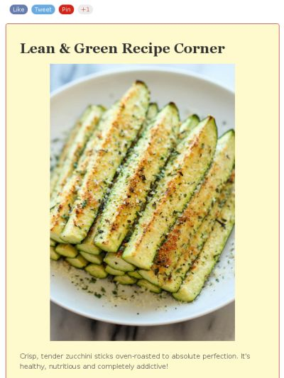 Lean and Green - Baked Parmesan Zucchini