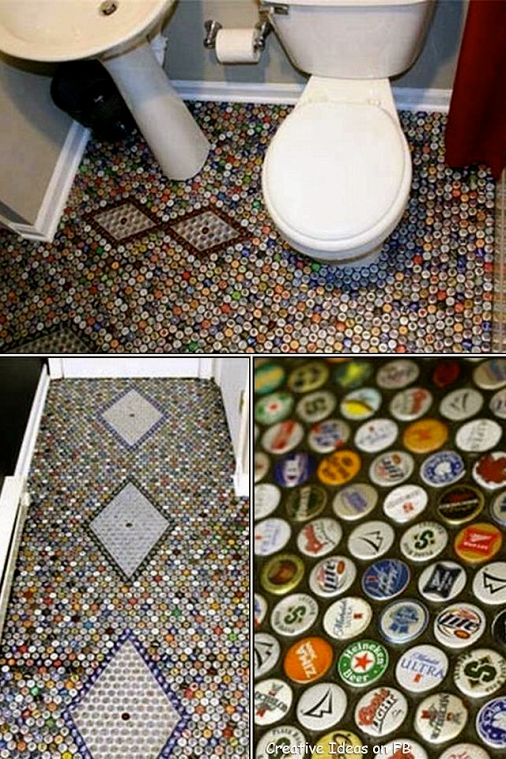 Now I have something to do with all those bottle caps!!!