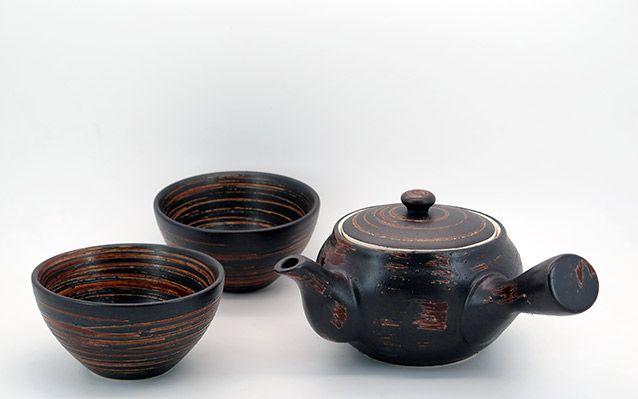ΚΑΙΝΟΥΡΙΟ Κεραμική τσαγιέρα και 2 κούπες Qingdao