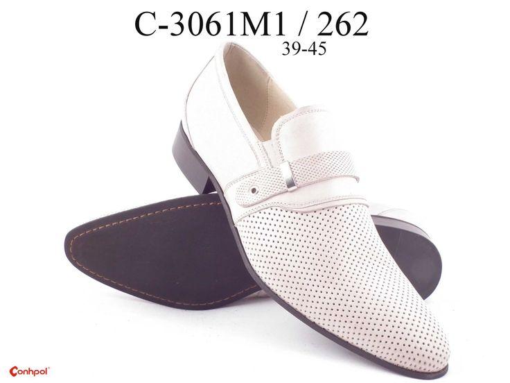 Летние мужские туфли белого цвета в сеточку