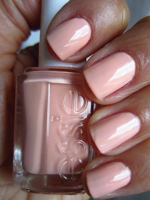 essie--A Crewed Interest nail color. Pale pinkish which is whispery soft.