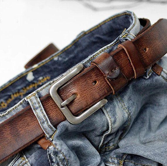 Unisex Belt, Vintage Genuine Leather Belt, Men's Belt,Handmade Belt, Cowhide Leather Belt,Long Belt