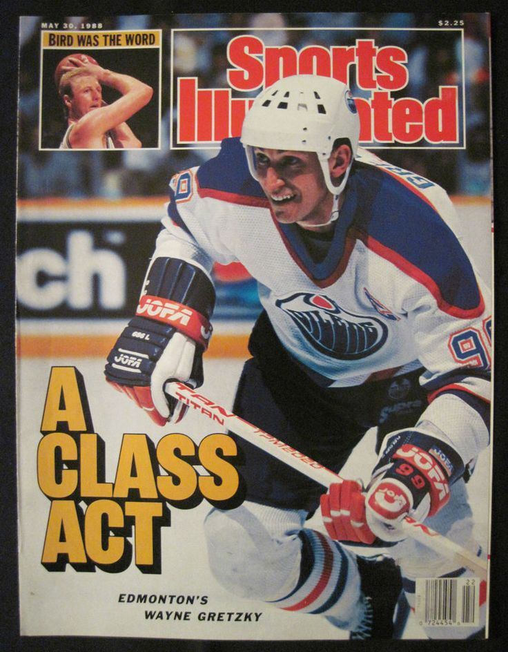 #sports illustrated cover may 30 1988 - a class act edmonton's wayne gretzky from $3.0