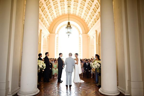 Wedding Hall Ceremony: Wedding Ceremony In Pasadena City Hall. ( #wedding