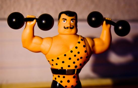 """The Six Traits of Strong Characters - All of your characters need to be strong. Make sure each one can bench press at least their own weight plus three pandas. Just introduce each character during a gym scene so the audience can see it happen, and you're done. Oh wait… it's the other """"strength"""" everyone's talking about... Image By LOLren"""