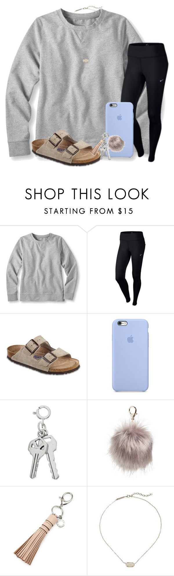 """Staying up for Mercy!!!!!!"" by kari-luvs-u-2 ❤ liked on Polyvore featuring L.L.Bean, NIKE, Birkenstock, Nila Anthony, Rebecca Minkoff and Kendra Scott"
