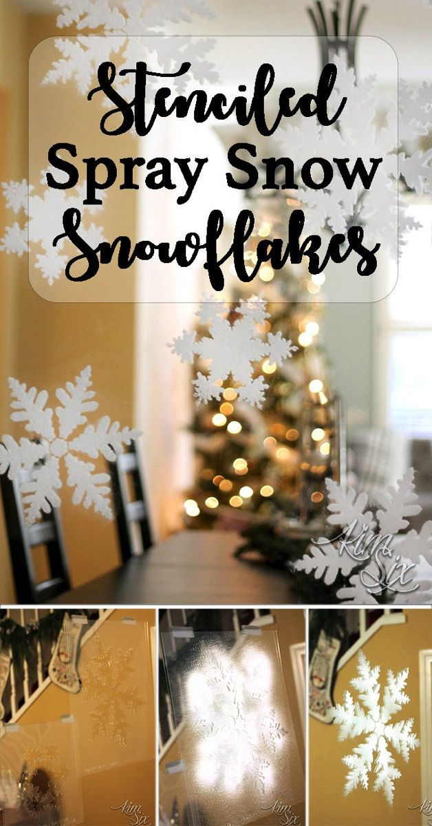 How to use spray snow to create beautiful floating snowflakes on mirrors and windows.jpg