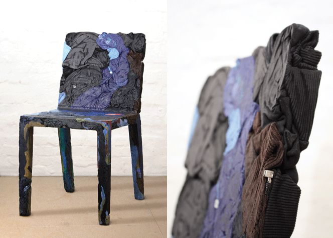 Rememberme Chairs Made From Recycled Clothes Are Really Stylinu0027!  PlastikstühleStuhl DesignHaus ...