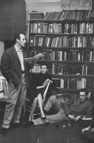 Lawrence Ferlinghetti, Michael McClure (floor) San Francisco (1957) Photo by Nat Farbman