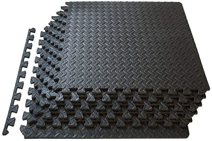 Prosource Puzzle Exercise Mat Eva Foam Interlocking Tiles Protective Flooring For Gym Equipment And Cushion Foam Floor Tiles Home Gym Flooring Floor Workouts