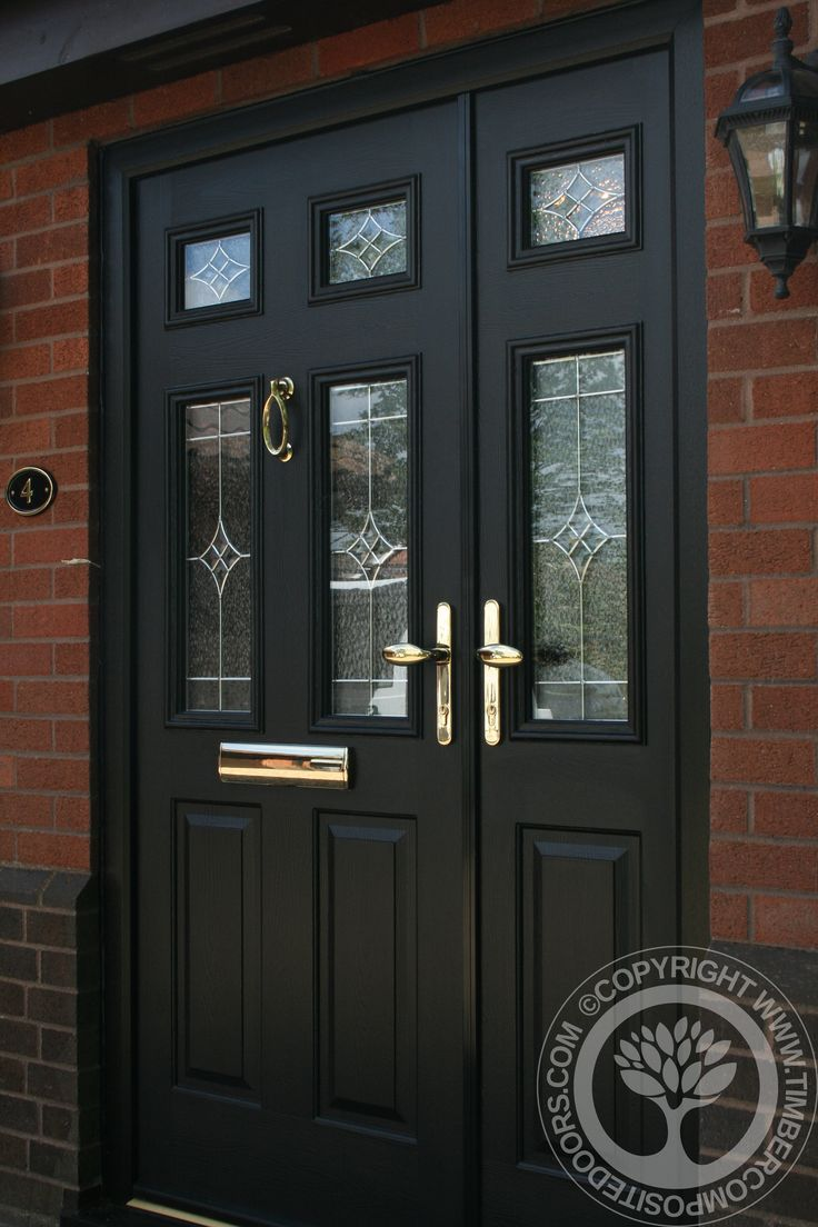 Composite Door Frames : Solidor tenby composite door in black with matching frames