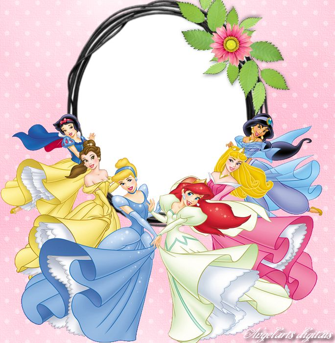 disney digital frames borders | arts digitais: Moldura princesas disney