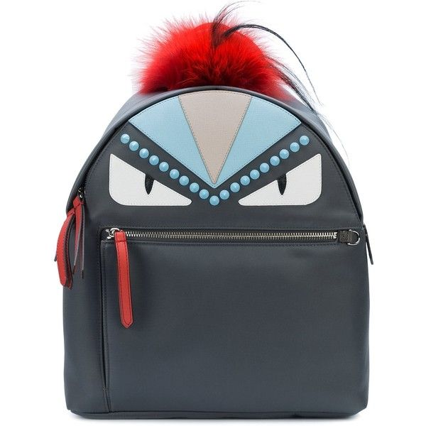Fendi Monster Backpack ($2,450) ❤ liked on Polyvore featuring bags, backpacks, bags /, kirna zabete, fur backpack, fur bag, decorating bags, fox fur bag and fox bag