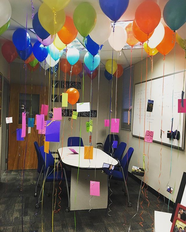 Happy Boss's Day! Our amazing principal is leaving us for district office . We spent our morning filling his room with memories!