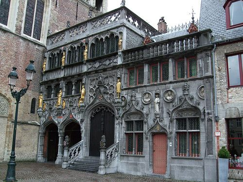 Basilica of the Holy Blood Saint-Baselius Chapel, Bruges Belgium. the famous relic is a stone said to be splashed with a drop of blood from Jesus at the time of the crucifixion.