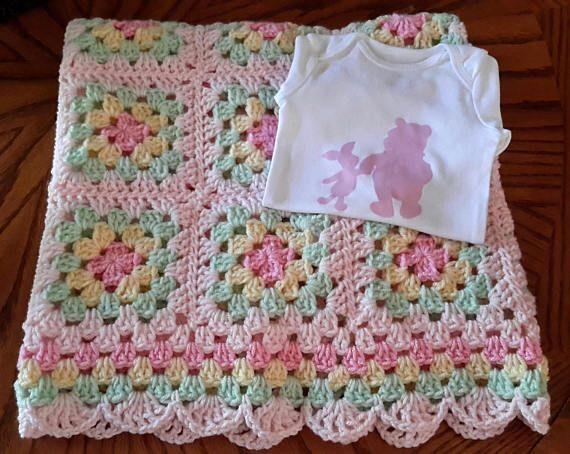 Crochet beb manta ganchillo beb afgano abuela cuadrados - Manta de bebe a ganchillo ...