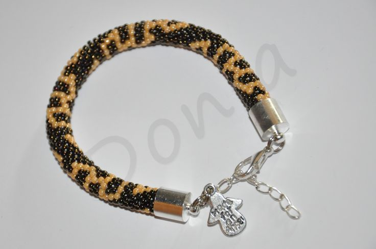 Bead Crochet Bracelet - with angel