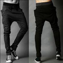 2015 marca de moda de nova marca Sweatpants calças dos homens Harem Pants calça esporte, Homens Big bolso Design homem carga corredores M ~ XX(China (Mainland))