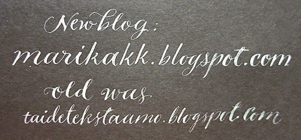my new blog is http://marikakk.blogspot.com (old was taidetekstaamo.blogspot.com) WELCOME!