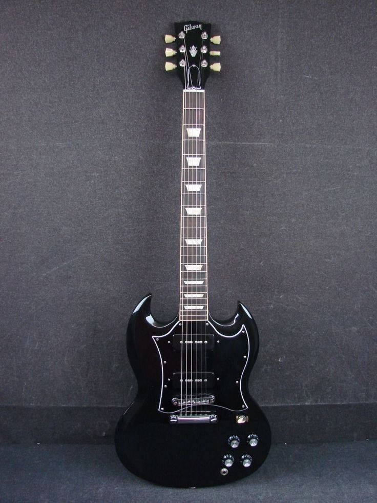 2012 Gibson SG Standard P90 Ebony Electric Guitar Made In USA w/Case