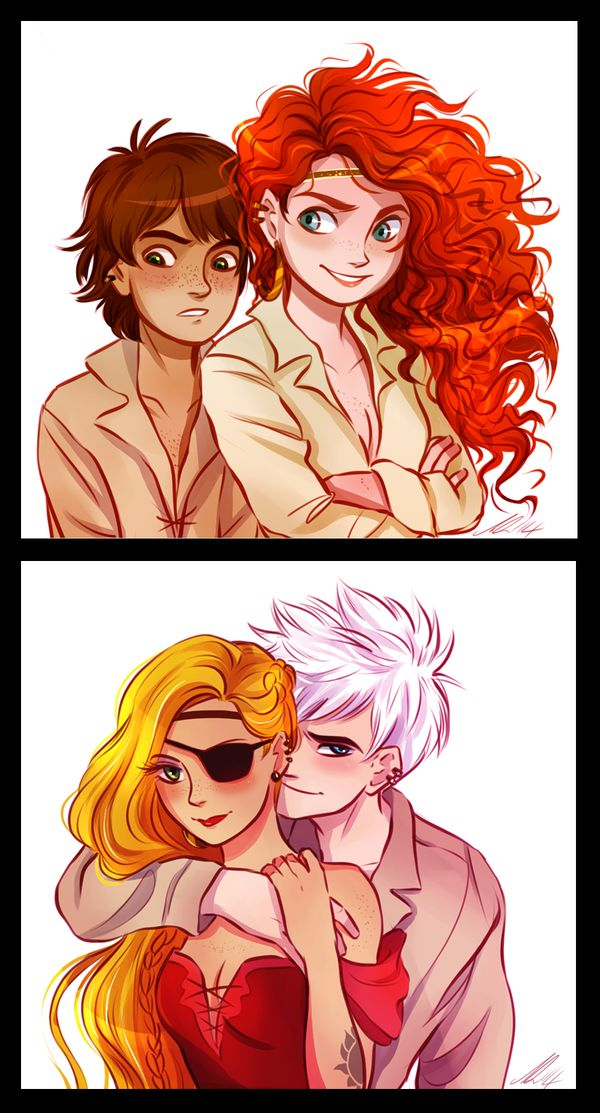 Pirate Crew by AndytheLemon on deviantART   I don't ship either of them But i like the concept!