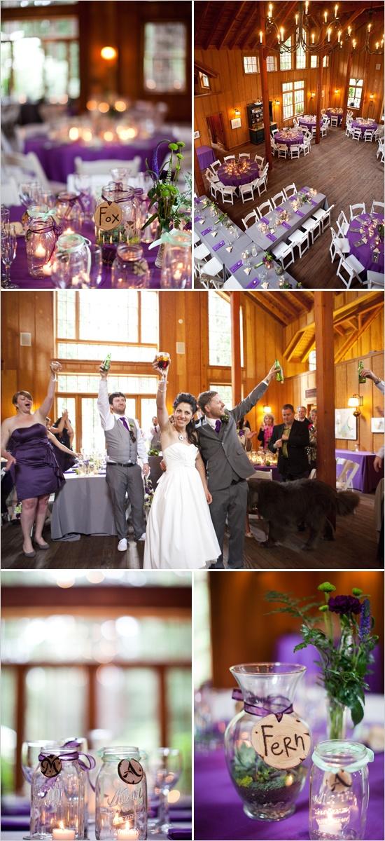 Farbkonzept für eine Hochzeit in grau und Lilatönen