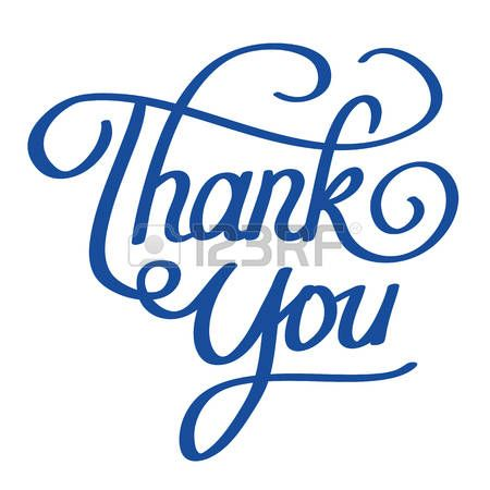vector lettering illustration of thank you words photo