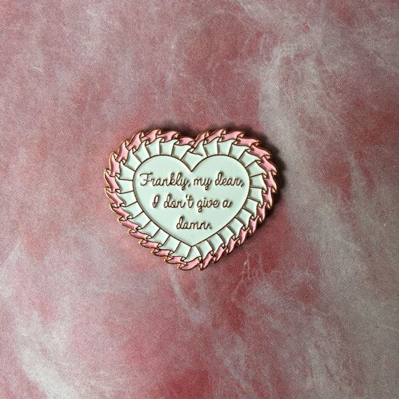 Frankly, my dear, I don't give a damn lapel enamel pin Gone With The Wind…