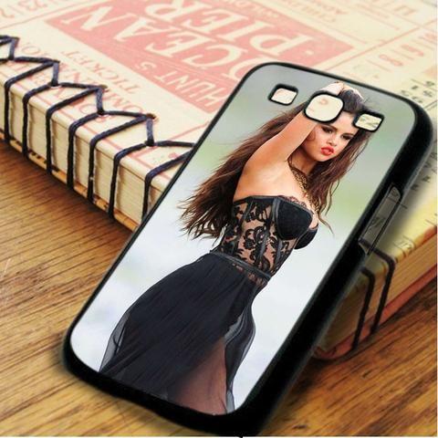 Selena Gomez Cute Red Lips Samsung Galaxy S3 Case