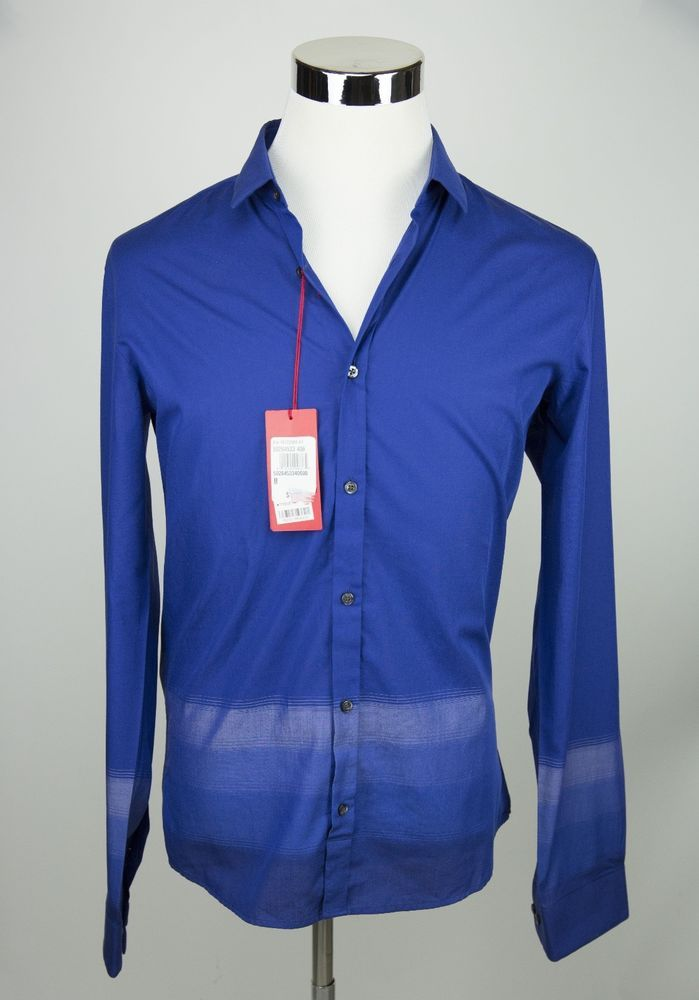5a47aeac07e New Hugo Boss Red Label Ero Slim Fit Button Down Shirt Men s Medium Royale  Blue  fashion  clothing  shoes  accessories  mensclothing  shirts (ebay  link)