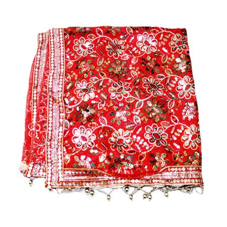 Ganpati Duppata/Shawl - Design II, Buy Ganpati Duppata/Shawl - Design II online from India