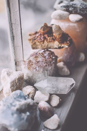 crystals on the window sill / Sacred Spaces. Crystals, healing, energy.  www.livewildbefree.com Cruelty Free Lifestyle & Beauty Blog. Twitter & Instagram @livewild_befree