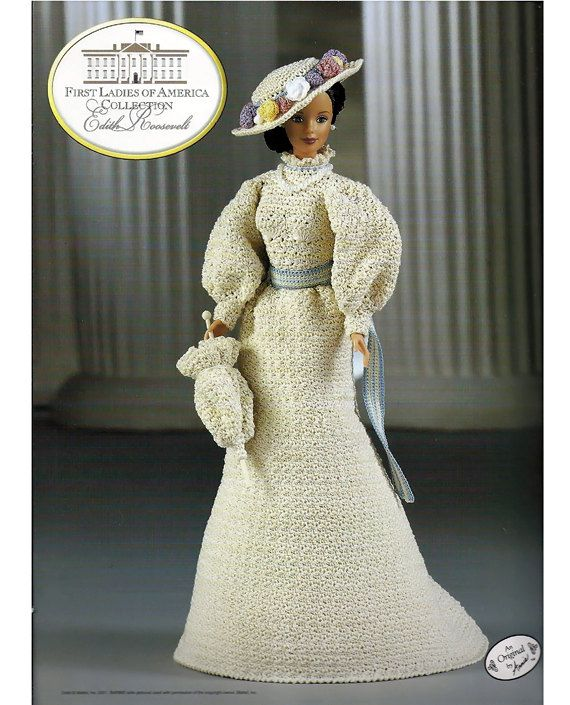 First Ladies of America Collection Edith Roosevelt Fashion Doll  Crochet Pattern  Annies Attic  8503