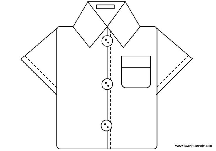Картинка, открытка мужская рубашка шаблон