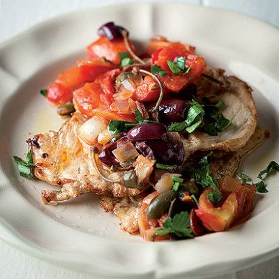 Taste Mag | Flattened chicken with caponata @ https://taste.co.za/recipes/flattened-chicken-with-caponata/