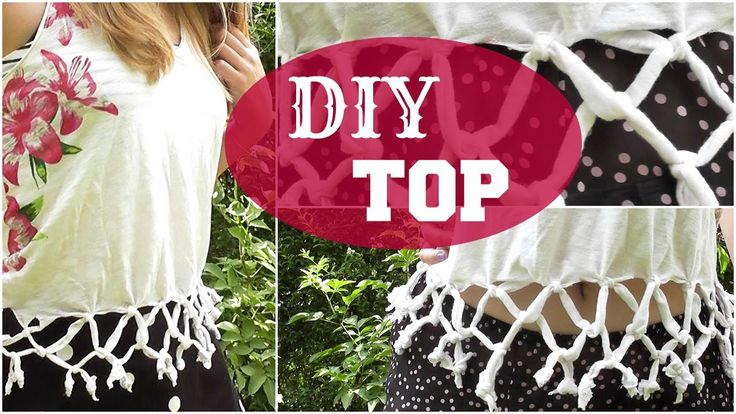 ✿ DIY Braided Fringe Summer Top/T-shirt + How I Style! ✿