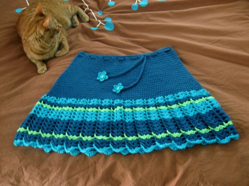 crochet skirt - I want to be back to crocheting to make this :)
