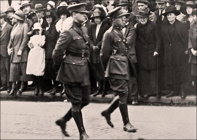 Just restored a old photo of Michael Collins & Richard Mulachy
