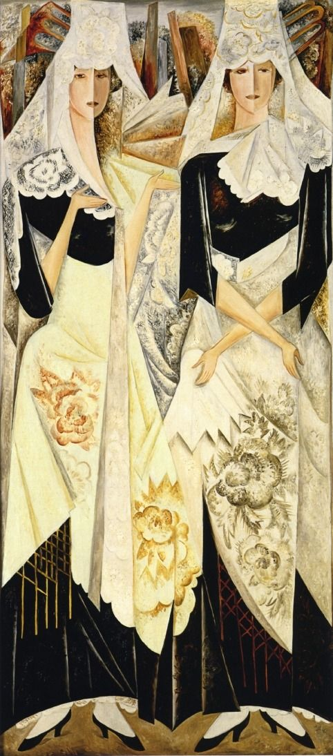 Spanish Dancers via Natalia Goncharova Size: 192.3x87.5 cm Medium: oil on canvas