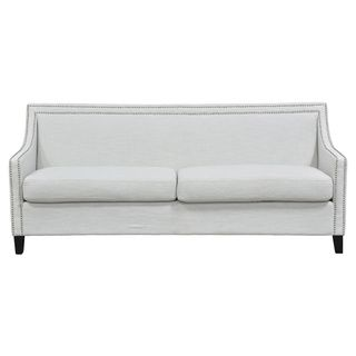 @Overstock.com.com - White Bella Sofa - A neat nail-head trim adds class to this gorgeous Bella sofa. With comfortable cushions and durable wooden feet, this gorgeous couch is the perfect addition to your home. http://www.overstock.com/Home-Garden/White-Bella-Sofa/8280104/product.html?CID=214117 $1,077.99